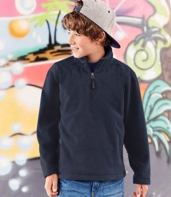 Kids Custom Embroidery 1/4 zip Fleece
